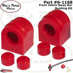 Prothane 6 1168 Front Sway Bar 34mm Bushing end Link Kit 04 06 F 150 250 2 4wd