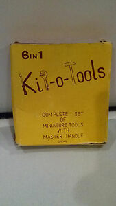 Rare Japan Made Kit o tools 6 In 1 Miniature Tools Hammer Wrench Screw Driver