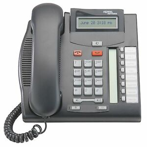 Nortel Norstar Bcm T7208 Charcoal Phone Refurbished With One Year Warranty