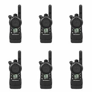 6 Motorola Cls1410 Uhf Business Two way Radios