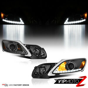 Smoked Lens Fit 2006 2011 Lexus Uzs190 Gs300 Gs350 Led Smd Drl Front Headlight