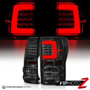 Smoked Lens Fiber Optic Led Tail Lights For 07 13 Toyota Tundra Pick Up Truck