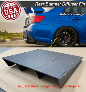 22 X 21 Abs Universal Rear Bumper 4 Fins Diffuser Fin Canards Black For Ford