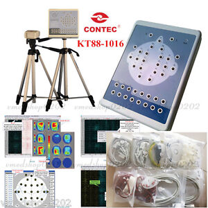 Contec New Kt88 1016 Digital 16 channel Eeg Machine And Mapping System Software