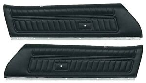 1972 1977 Firebird Trans Am Camaro Standard Upper Door Panel Set Black