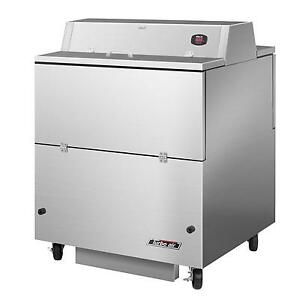 34 Super Deluxe Dbl Side Milk Cooler W Stainless Exterior
