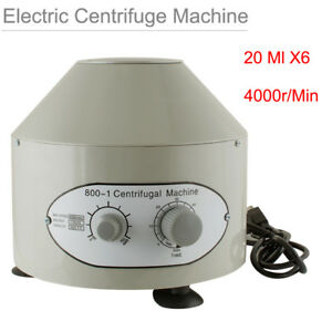 110v Electric Centrifuge Machine Lab Medical Practice 4000rpm min 6x 20ml Us 25w