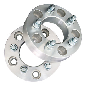 5x108 To 5x100 Wheel Adapters 1 25 Thick 12x1 5 Lug Studs Billet Spacers X2