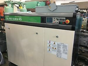 Hitachi Dsp 45a6iim 100 Oil Free 60 Hp Compressor System W Dryer 1060 Gal Ta