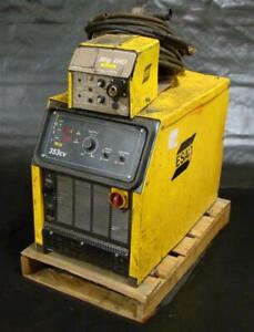 Esab 3 Phase 230 460 Volt 353 Cv Mig Welder With Mig 4hd Wire Feeder