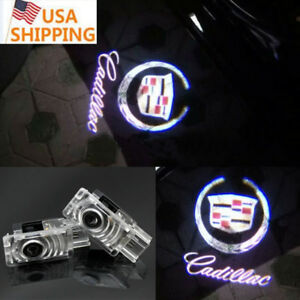 2x Ghost Led Door Step Courtesy Shadow Laser Light For Cadillac Cts Srx Ats Xts