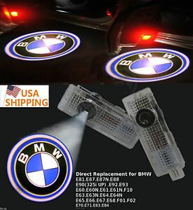 2x Led Logo Door Courtesy Light 3d Ghost Shadow Laser Projector For Bmw