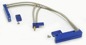Obx Aluminum Fuel Injection Rail Fit 2002 03 04 2005 Impreza Wrx 2 0l Ej20t Blue