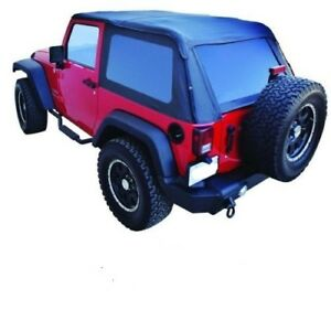 Frameless Trailview Soft Top With Hardware Kit 07 17 For Jeep Wrangler 2 Door Jk
