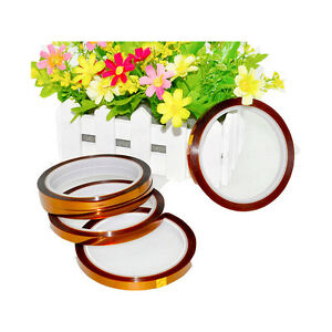5pcs 8mm 30m Heat Press 3d Sublimation Kapton Tape Heat Resistance Proof Tape
