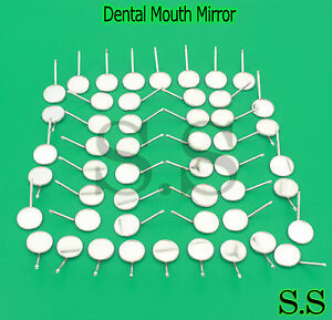 96 Pcs Dental Mouth Mirror Reflector Odontoscope Equipment 4 Stainless Steel