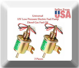 2 Pcs 12v Low Pressure Electric Fuel Pump Diesel Gas Fuel Oil For Universal Car