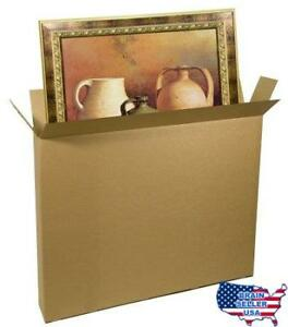 Ecobox 52 X 8 X 60 Inches Corrugated Shipping moving Box Carton For Art Picture