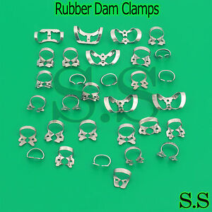 60 Pcs Endodontic Rubber Dam Clamps Of Dentist Instrument