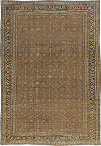 Large Antique Persian Bibikabad Rug Bb5580