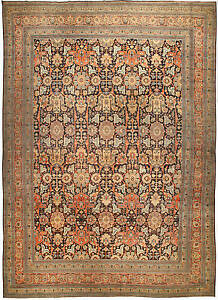 Large Antique Persian Tabriz Rug Bb4493