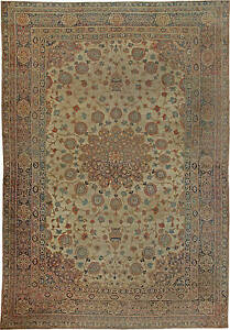 Large Antique Persian Tabriz Rug Bb5576