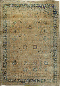 Large Antique Persian Kirman Rug Bb6132