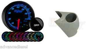 03 07 Ford Super Duty Glowshift Elite Ten Color Oil Pressure Gauge