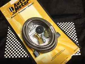Autometer 3228 4 An Ss Braided Oil Fuel Pressure Gauge Hose Tubing Line Kit