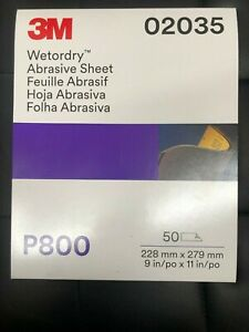3m 02035 Wetordry Sheet P800 Grit 9 X 11 Inch 2035 50 Sheets