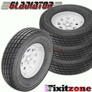 4 Gladiator Qr 25 235 85r16 128 124 Trailer Tires Load G 14 Ply 235 85 16