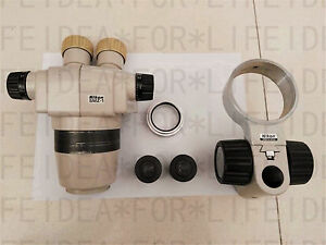Nikon Smz 1 Esd Microscope Body Head 0 7x Objective wf 15x 16 Eyepieces holder