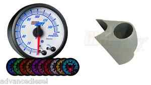 03 07 Ford Super Duty Glowshift White Elite 10color Oil Pressure Gauge