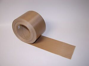 Brown Ptfe Heat Seal Glass Cloth Tape 3 1 2 X 50 Yds 7 Mil Non adhesive