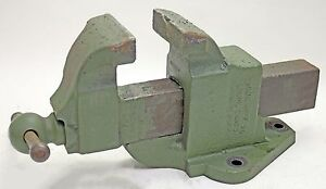 Athol Starrett Heavy Duty 615 Fixed Base 5 Jaw Machinist Fabricator Bench Vise