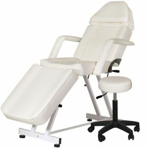 New Adjustable Portable Medical Dental Chair W stool Combination White
