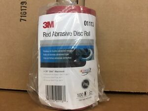 3m 1113 Stick It Adhesive Back 6 150 Grit Disc Sandpaper 100 Sheets roll 01113