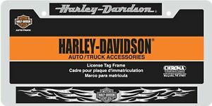 Chroma Harley Davidson Chrome Domed License Plate Frame 6413