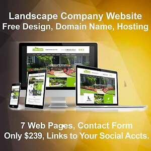 Custom Landscaping Company Website Free Domain Name Hosting And Updates