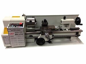 Digital Precision Metal Mini Lathe 7 X 12 Machine Variable Speed 550w 2500 Rpm