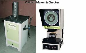 V notch Broaching Machine Profile Projector Optical Comparator