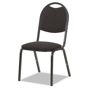 8917 Series Fabric Upholstered Stack Chair 18w X 22d X 35 1 2h Black