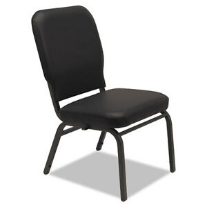 Oversize Stack Chair Black Antimicrobial Vinyl Upholstery 2 carton