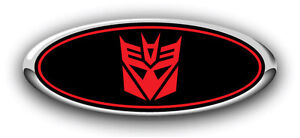 Explorer 2011 2017 3pc Kit Transformers Decepticon Overlay Emblem Decals B R