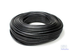 Hps 5mm Full Silicone Coolant Air Vacuum Hose Line Pipe Tube X 50 Feet Black