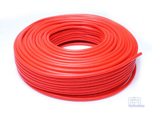 Hps 4mm Full Silicone Coolant Air Vacuum Hose Line Pipe Tube X 50 Feet Red