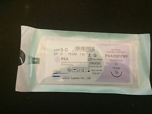 Ie Dental Surgical Sutures Resorbable silk Pga 3 0 17mm No Braun 100 Authentic