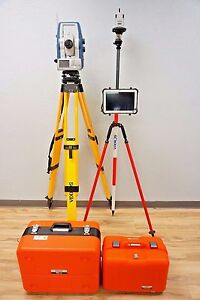 Sokkia Sx 105t 5 Robotic Total Station Rc pr5 Panasonic Toughpad Topcon