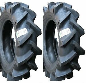 Two New 6 14 Bkt Deep Lug R 1 Tires Tubes Compact 4wd Farm Tractors 4ply Rated