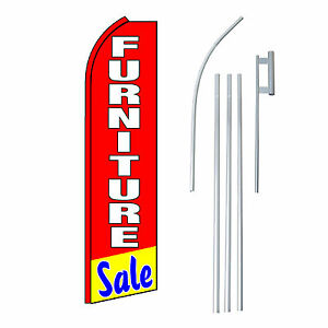 Furniture Sale Flag Swooper Feather Sign Banner 15ft Kit Made In Usa